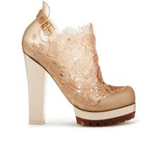 Alexandre Herchcovitch for Melissa Women's Flower Heeled Shoe Boots - Champagne