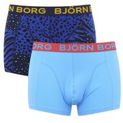 Bjorn Borg Men's Twin Pack Animal Madness Boxer Shorts - Peacoat