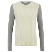 Paul by Paul Smith Women's Cable Front Knitted Jumper - Cream