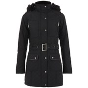 Barbour International Women's Katana Quilt Parka - Black