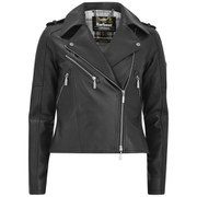 Barbour International Women's Mica Leather Jacket - Black