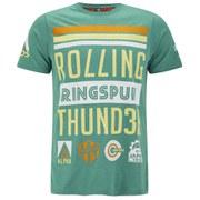 Ringspun Men's Smoke T-Shirt - Green Marl