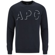 A.P.C. Men's Logo Crew Neck Sweatshirt - Navy