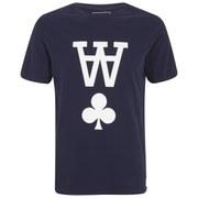 Wood Wood Men's AA Printed Crew Neck T-Shirt - Peacoat
