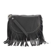 BeckSondergaard Women's Lewis Fringed Shoulder Bag - Black