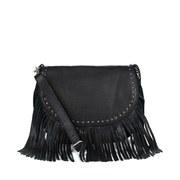 BeckSöndergaard Women's Lewis Fringed Shoulder Bag - Black