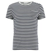 J.Lindeberg Men's Breton Stripe Pocket T-Shirt - White