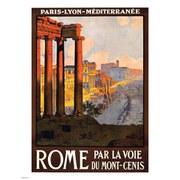 Vintage Travel Kunstdruck - Roma