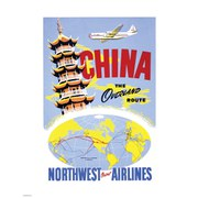Vintage Travel Kunstdruck - China