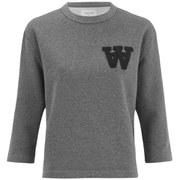 Wood Wood Women's Hope Logo Sweatshirt - Grey
