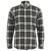 Carhartt Men's LS Baker Shirt Cotton Twill - Dark Grey Heather