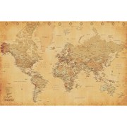 World Map Vintage Style - 24 x 36 Inches Maxi Poster