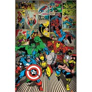 Marvel Comics Here Come The Heroes - 24 x 36 Inches Maxi Poster
