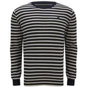 G-Star Men's Berlow Stripe Knitted Jumper - Milk Heather Stripe