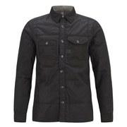 G-Star Men's Wolker Padded Overshirt - Black Boron Waxed Canvas