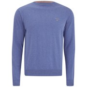 GANT Men's Crew Neck Knit - Blue