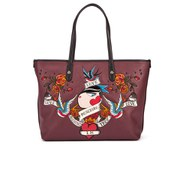 Love Moschino Women's Illustrated Tote Bag - Dark Red