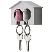 Qualy Duo Sparrow Key Holder - Pink