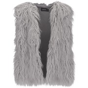 MINKPINK Women's Endless Shaggy Vest - Grey