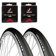 Veloflex Corsa 23 Clincher Road Tyre Twin Pack with 2 Free Inner Tubes - Black 700c x 22mm