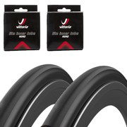 Vittoria Open Page CG Black Edition Clincher Road Tyre Twin Pack with 2 Free Tubes- Black - 700c x 25mm