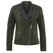 ONLY Womens Ava Suede Biker Jacket - Peat