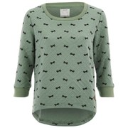 ONLY Women's Sublime Minibow Check Sweatshirt - Granite Green