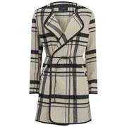 VILA Women's Chic Check Coat - Pristine