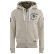 Superdry Men's Trackster Winter Zip Hoody - Super State Light Grey