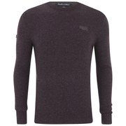 Superdry Men's Harrow Crew Neck Knit Jumper - Loganberry