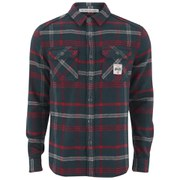 Superdry Men's Milled Flannel Long Sleeve Shirt - Niagra Midnight