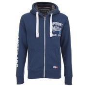 Superdry Men's Trackster Winter Zip Hoody - Iowa Blue
