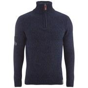 Superdry Men's Zip Neck Sweatshirt - Rich Navy