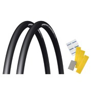 Michelin Pro4 Comp V2 Clincher Tyre Twin Pack with Free Puncture Repair Kit - Limited Black - 700 x 23c