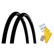 Michelin Pro4 Endurance V2 Clincher Tyre Twin Pack with Free Puncture Repair Kit - Lead - 700 x 23c
