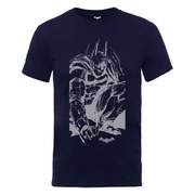 DC Comics Batman Arkham Knight Sketch Men's T-Shirt - Navy