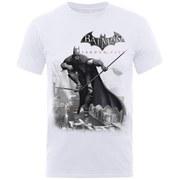 DC Comics Batman Arkham On Wire Men's T-Shirt - White
