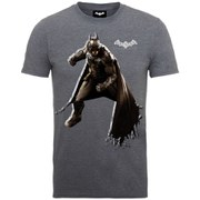 DC Comics Batman Arkham Knight Shadow Stance Men's T-Shirt - Dark Heather