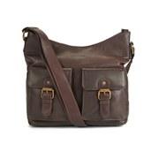 Barbour Women's Slateford Leather Shoulder Bag - Dark Brown