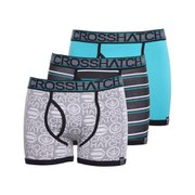 Crosshatch Men's Scatter Printed 3 Pack Boxers - Viridian