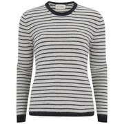 American Vintage Women's Spartow Jumper - Pearl Striped Black