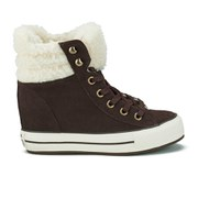Converse Women's Chuck Taylor Platform Plus Collar Wedged Trainers - Burnt Umber/Natural