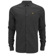 Lyle & Scott Vintage Men's Long Sleeve Marl Shirt - Charcoal