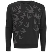 McQ Alexander McQueen Men's Clean Crew Neck Sweatshirt - Darkest Black/Swallow