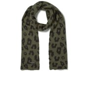 Maison Scotch Women's Fluffy Knitted Scarf - Khaki