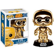 Star Wars POP! Vinyl Cabezón C-3PO (Gold Chromed)