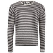 American Vintage Men's Striped Long Sleeve Top - White