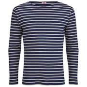 Armor Lux Men's Héritage Breton Stripe Long Sleeve T-Shirt - Storm Chine/Zand