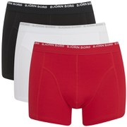 Bjorn Borg Men's Triple Pack Boxer Shorts - True Red