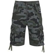 Smith & Jones Men's Fin Camo Cargo Shorts - Black